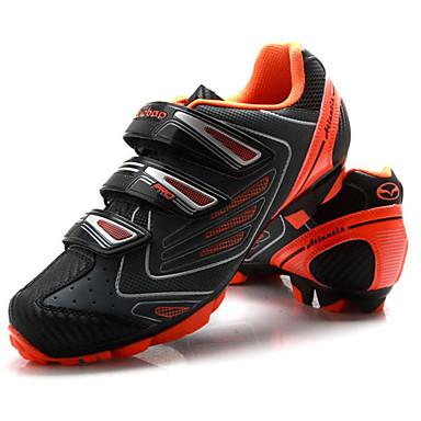 Tiebao® Buty na rower górski Włókno węglowe Antypoślizgowy, Zdatny do noszenia, Oddychalność Kolarstwo Czarny / pomarańczowy Męskie / Haczyk