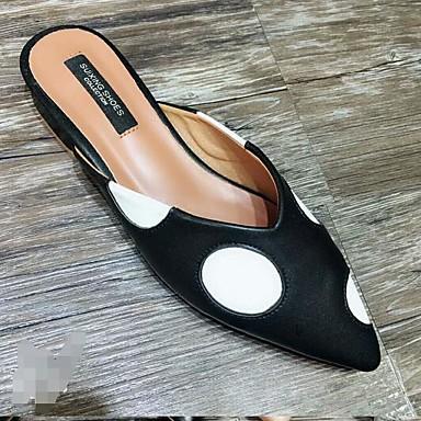 Confort Mules 06642273 Automne Printemps Chaussures Polyuréthane Noir Talon Amande amp; Sabot Femme Plat wqIBax7