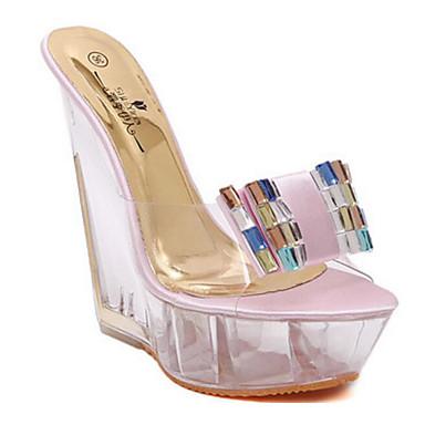 de Basique Eté Amande Escarpin 06632257 Similicuir Femme Rose compensée Chaussures Sandales Confort Hauteur semelle 6BZq1q