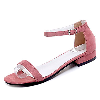 Footaction À Vendre Mujer Zapatos PU Verano Confort Sandalias Tacón Bajo Puntera abierta Cuentas Negro / Beige / Rojo Le Plus Grand Fournisseur En Vente Nicekicks De Sortie ztdDu