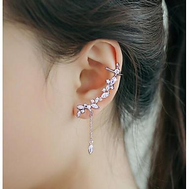 povoljno Naušnice-Žene Kubični Zirconia Uho Manžete Uši penjači Glina Naušnice Moda Jewelry Pink Za Vjenčanje Party 1pc