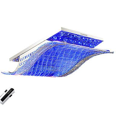 OYLYW Takmonterad Glödande Krom Metall Glas Kristall, Flerfärgad skärm, Färgskiftande 110-120V / 220-240V LED-ljuskälla ingår / Integrerad LED