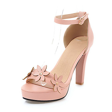 Similicuir Chaussures 06624090 amp; ouvert D'Orsay Eté Sandales Talon Pièces Basique Deux Femme Noir Blanc Escarpin Bottier Rose Bout 5Af1qwx1