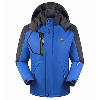 Men's Hiking Jacket outdoor Autumn / Fall Winter Windproof Rain-Proof Breathability Hiking Jackets Camping & Hiking Apparel & Accessories Activewear Polyester Down Winter Jacket Top Waterproof Full
