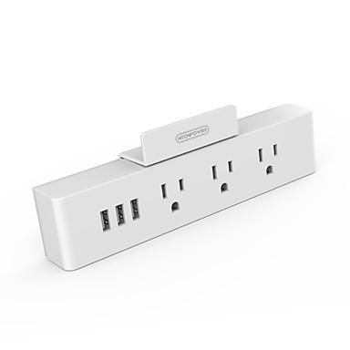 NTONPOWER Smart Plug MNC-3A3U-US-WH na Kuchnia / Badanie / Sypialnia Kreatywne / Uniwersalny standard USB / inteligentny 100-240 V