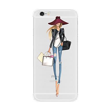 Etui Käyttötarkoitus Apple iPhone X iPhone 8 iPhone 6 iPhone 6 Plus Iskunkestävä Läpinäkyvä Takakuori Sexy Lady Kova TPU PC