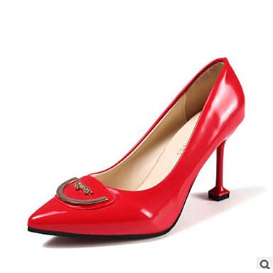 Tacones y Puntiagudo Tacón Rosa Stiletto Básico Fiesta Negro Pump Verano Noche 06623723 Pedrería Dedo Primavera Mujer PU Zapatos Rojo CYqwRAA