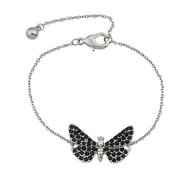 abordables Bracelet-Chaînes Bracelets Femme Papillon dames Rétro Vintage Basique Bracelet Bijoux Dorée Argent pour Rendez-vous Plein Air