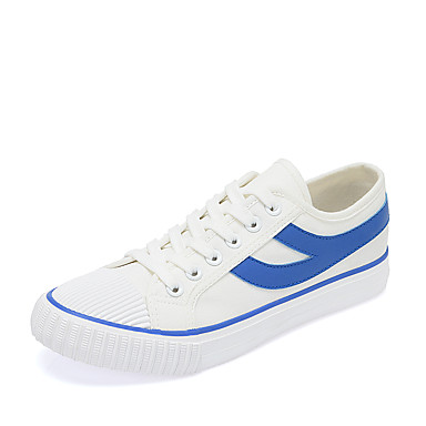 Mulheres Sapatos Tule Verão Conforto Tênis Sem Salto Ponta Redonda Branco e Vermelho / Branco / azul