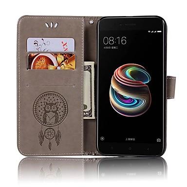Kılıf Na Xiaomi Mi 6 / Mi 5s Portfel / Etui na karty / Flip Pełne etui Sowa Twarde Skóra PU na Xiaomi Mi 6 / Xiaomi Mi 5X / Xiaomi Mi 5s