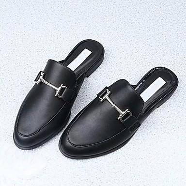 Plat Talon Printemps 06640150 Chaussures Confort Blanc Mules Sabot amp; Femme Cuir Automne Noir fz8nxpq