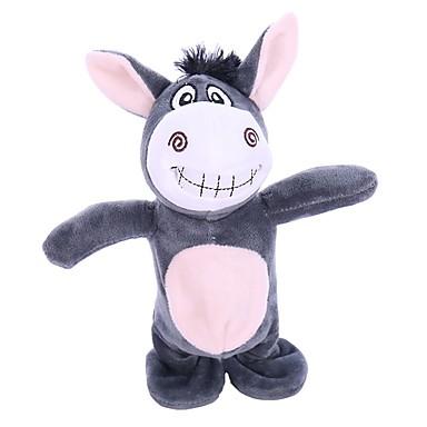 voordelige Knuffels & Pluche dieren-Paard Cow Knuffeldieren Sprekend Zacht Cartoon Katoen Unisex Meisjes Speeltjes Geschenk
