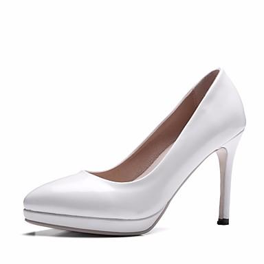 Chaussures Bout Femme Printemps Rouge Basique pointu Aiguille Chaussures Talons Polyuréthane Escarpin Noir Blanc Talon Automne 06621084 à Pr4YqPw