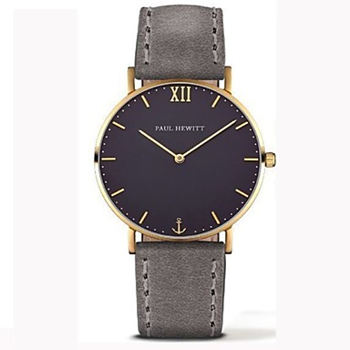 6b7a7eda956 baratos Relógios Masculinos-Homens Relógio Elegante Couro PU Acolchoado  Preta   Marrom 30 m Cronógrafo
