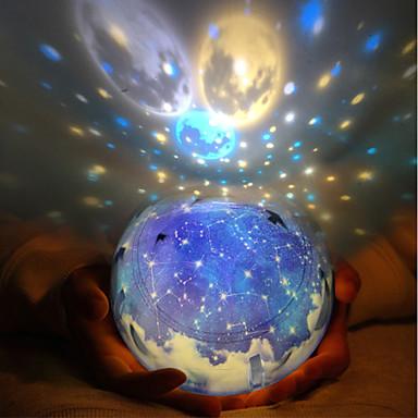 Недорогие Игрушки своими руками-LT.Squishies LED освещение Лампа-проектор Романтика Звёздное небо Мерцание Высококачественный пластик ABS Детские Мальчики Девочки Игрушки Подарок