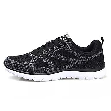 Hombre Zapatos Malla Verano Confort Zapatillas de Atletismo Paseo Negro / Rojo / Azul CFfYAhf5