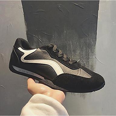 Męskie Komfortowe buty Sztuczna skóra Zima Adidasy Złoty / Biały