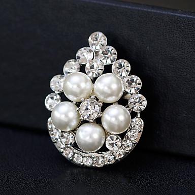 billige Motebrosjer-Dame Nåler - Perle Europeisk, Mote Brosje Smykker Gull / Sølv Til Bryllup / Daglig