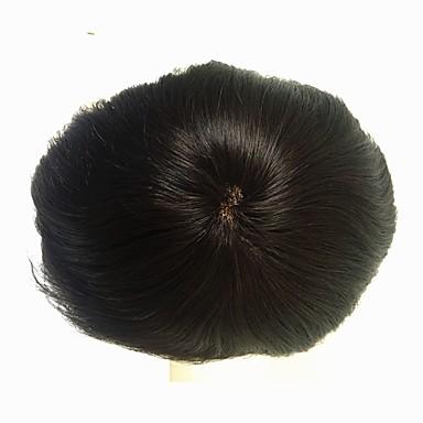 povoljno Perike i ekstenzije-Muškarci Remy kosa Tupe 100% rađeno rukom / Full Lace