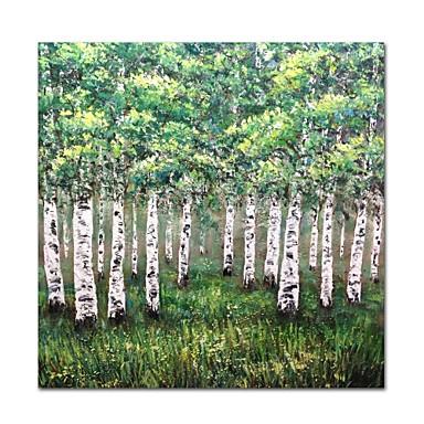 styledecor® nowoczesne ręcznie malowane zielone drzewa obraz olejny na płótnie na ścianę gotowy do powieszenia sztuki
