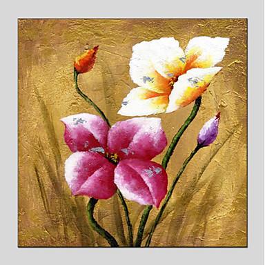 Hang-Malowane obraz olejny Ręcznie malowane - Kwiatowy/Roślinny Nowoczesny