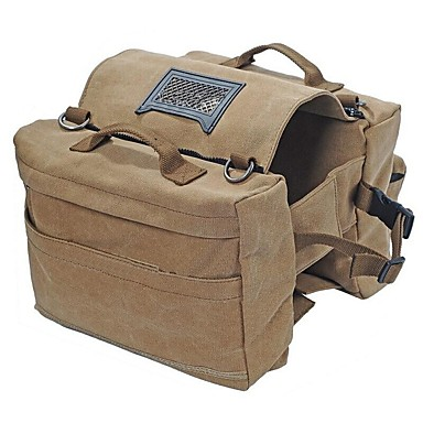 billige Sykkelvesker-Vesker til bagasjebrettet / Sykkelvesker Ryggsekk Dog Saddle Bag Justerbare Stor kapasitet Multifunksjonell Sykkelveske Lerret Oxford Sykkelveske Sykkelveske Vei Sykkel Fjellsykkel Camping