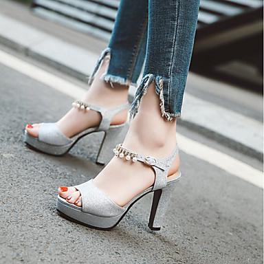 Paillettes Or Soirée Evénement Argent Bottier Femme Eté Violet amp; Confort Chaussures Boucle Sandales Bout Talon 06642119 ouvert Hx1R1Unvw5