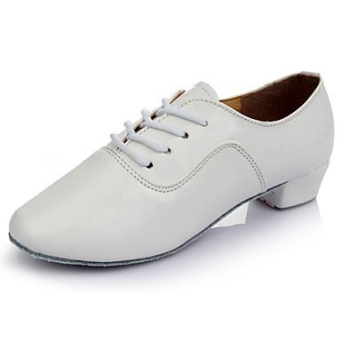 2019 Ultimo Disegno Per Uomo Scarpe Per Balli Latini Pu (poliuretano) Sneaker Piatto Personalizzabile Scarpe Da Ballo Bianco - Al Coperto #06629377 Sconto Online