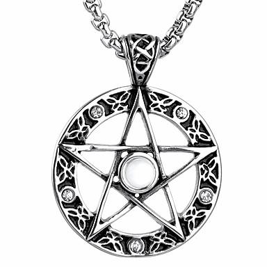 Anderen Stern Anhängerketten  -  Einzigartiges Design Modisch Silber Modische Halsketten Für Weihnachts Geschenke Geschenk Alltag