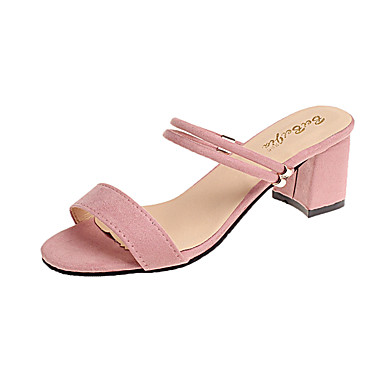 00331dad2d105 Women s Shoes PU(Polyurethane) Spring   Summer Comfort Sandals Flat Heel  Open Toe Buckle Silver   Pink   Khaki   Block Heel Sandals  06085783
