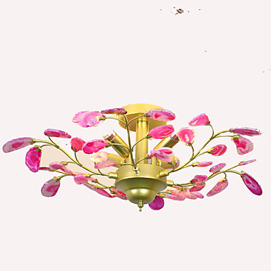 QIHengZhaoMing 4 światła Żyrandol Światło rozproszone - Ochrona oczu, 110-120V / 220-240V Żarówka w zestawie / 15/10 ㎡