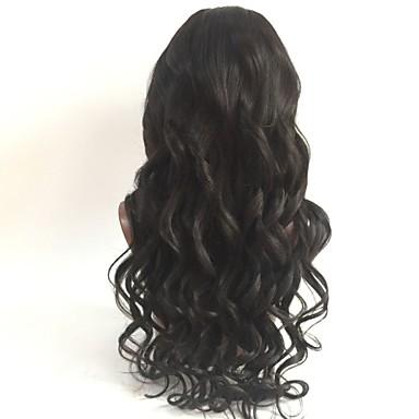 Păr Virgin Integral din Dantelă Perucă Păr Peruvian Ondulat Perucă Frizură în Straturi 130% Cu părul copiilor / pentru Femei de Culoare Negru Pentru femei Scurt / Lung / Lungime medie Peruci Păr Uman