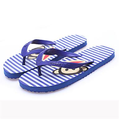 Męskie Komfortowe buty Syntetyczny Lato Klapki i japonki Czarny / Królewski błękit