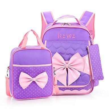 Damskie Torby Nylon plecak Zamek Czerwony / Blushing Pink / Purple