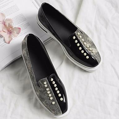 Creepers Confort Chaussons Femme Printemps Rose Noir Polyuréthane Automne Chaussures et 06626760 Mocassins D6148 R6zI6wq