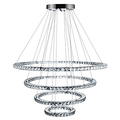 Chandelier Ambient Light - Crystal Dimmable LED Dimmable With Remote Control, Tiffany Country Traditional / Classic Modern / Contemporary