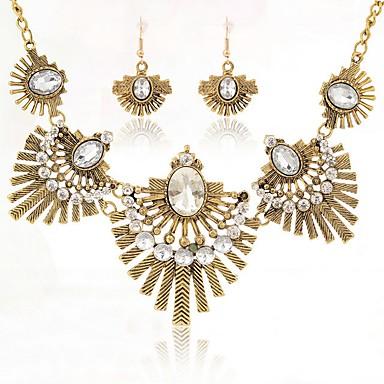 Damskie Kryształ Biżuteria Ustaw - Vintage, Elegancja Zawierać Złoty Na Ślub Impreza