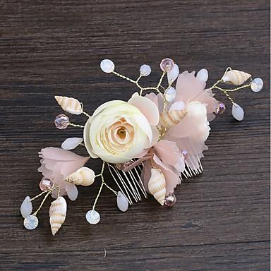 Reșină Îmbrăcăminte de păr cu Stea de mare și scoică / Floral 1 buc Nuntă / Mascaradă Diadema