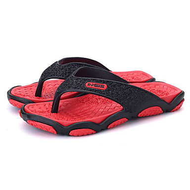 Men's PU(Polyurethane) Summer Gray Comfort Slippers & Flip-Flops Orange / Gray Summer / Red 66ab73
