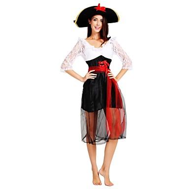 Piraci z Karaibów Kostium Damskie Halloween Karnawał Bal maskowy Festiwal/Święto Kostiumy na Halloween Stroje Czarny Solidne kolory Halloween Halloween