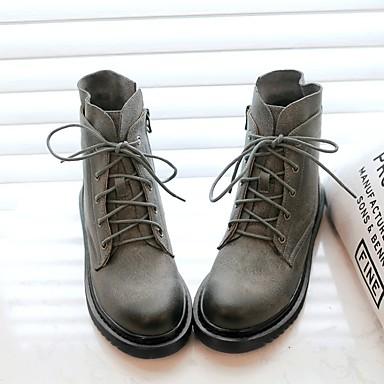air Combat plein De carrière Automne mollet de Femme Noir pour 06681757 boîtes Plat Mi Chaussures Bureau Cuir Bottes Bottes et hiver Talon FUHgAW