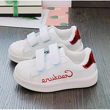 hesapli Kız Çocuk Ayakkabıları-Genç Erkek / Genç Kız PU Spor Ayakkabısı Bebek (9 milyon 4ys) / Küçük Çocuklar (4-7ys) Rahat Kırmzı / Yeşil / Mavi Sonbahar