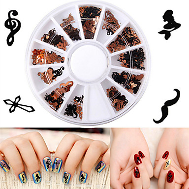 1 pcs Biżuteria do paznokci Artystyczny Sztuka zdobienia paznokci Manikiur pedikiur Codzienne Metaliczny