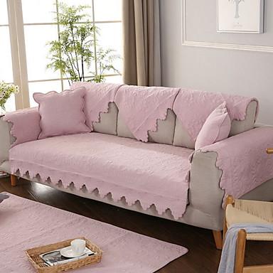 Pokrowiec na sofę Jendolity kolor Przędza barwiona Bawełna / Poliester slipcovers