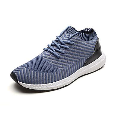 Bărbați Pânză / Tul Vară Confortabili Adidași de Atletism Alergare Negru / Gri / Albastru