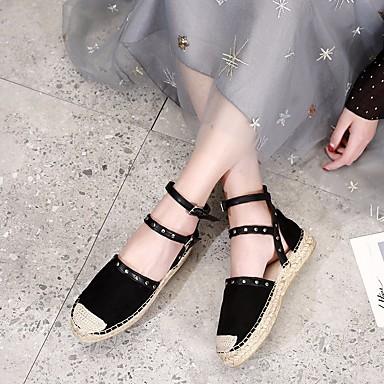Femme Automne Noir Espadrilles Ballerines synthétique 06654430 Talon Amande microfibre PU Printemps Chaussures de Plat Confort rY4rq