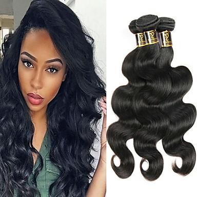 Włosy brazylijskie / Body wave Falisty Nieprzetworzone / Włosy naturalne Upominki Ludzkie włosy wyplata Miękki / rozbudowa / Najwyższa