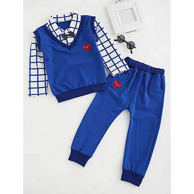 Brzdąc Dla chłopców Prosty / Moda miejska Rysunek Długi rękaw Bawełna Komplet odzieży / Urocza