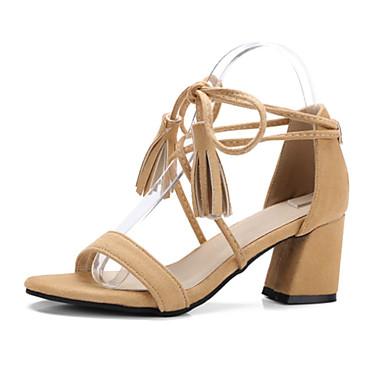 Nubuck Printemps Talon Bottier Bout Femme Confort Chaussures Cuir Gland été 06671808 Noir Rose Sandales ouvert Nouveauté Amande Btq4Ew