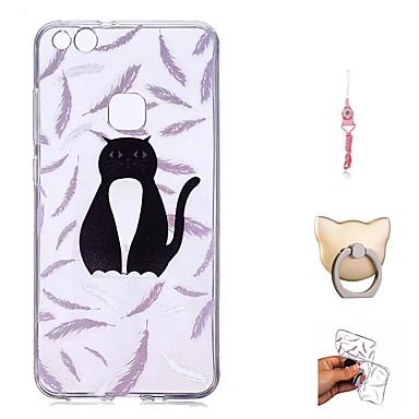 Maska Pentru Huawei P10 Lite / P9 Lite Transparent / Model Capac Spate Pisica Moale TPU pentru P10 Lite / P10 / Huawei P9 Lite